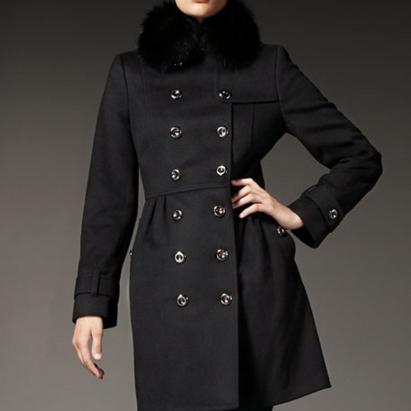 015b262ff9bde4 Burberry Jackets & Coats | Coatbridge Fox Collar Wool Cashmere Coat ...